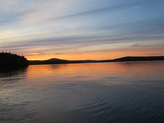 Danforth, ME: Fishing while seeing these sunsets. It doesn't get better than this!