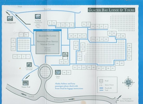 Map of Grounds - Picture of Glacier Bay Lodge, Gustavus ...