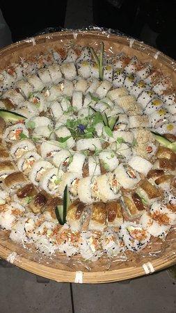 Panera de sushi para eventos