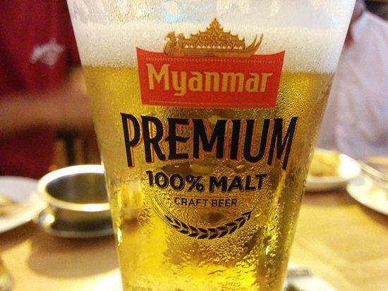 Angels Sports-Bar Restaurant: Draft beer Myanmar Premium