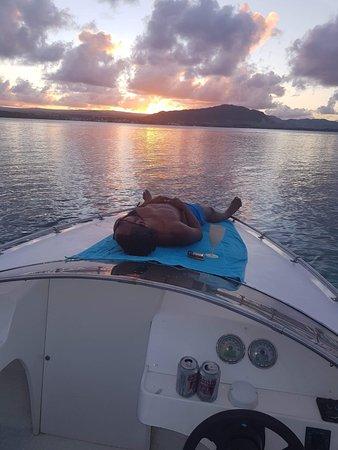 Virage45 - Ile Maurice: Coucher de soleile aux aigrette.