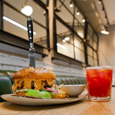 Our signature BRENT burger in addition with BRENT coctail