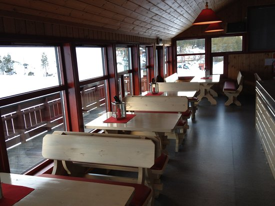The second floor of the restaurant