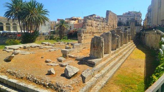 Isola di Ortigia, Italië: Resti tempio di ortigia