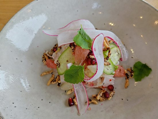 Pike and Joyce, Adelaide Hills: Port Lincoln Kingfish entree