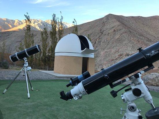 Observatorio Galileo: Contamos también con telescopios de menor tamaño para la observación directa de los visitantes.