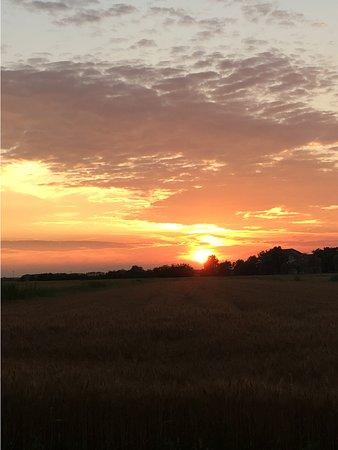 tramonto visto dalla piazzola data domenica 23 giugno 2019 - laguna village caorle