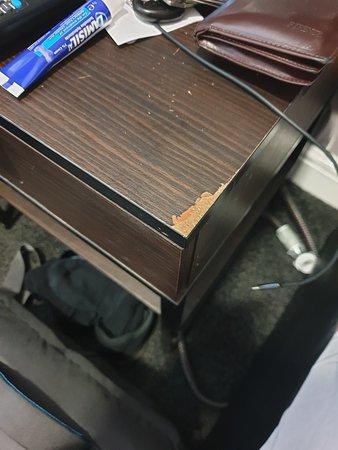 Furniture is damaged