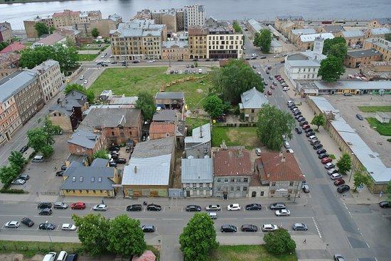 Panorama Riga Observation Deck: Blick auf die Moskaustrasse