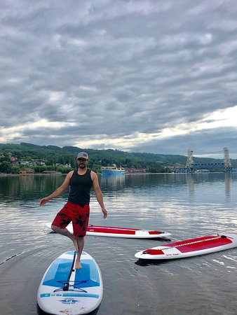 Portage Paddle Sports: yoga offered!