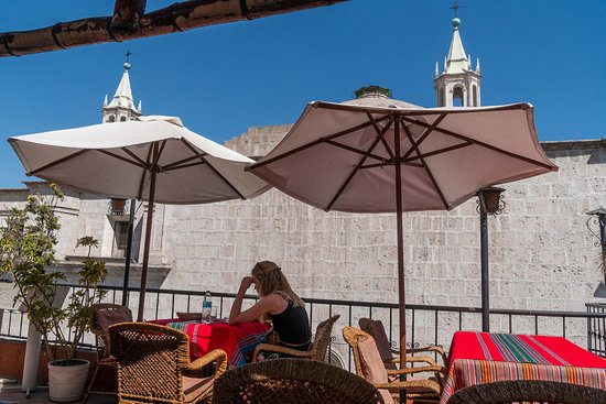 A number of cafes and restaurants are located in the central area of Arequipa