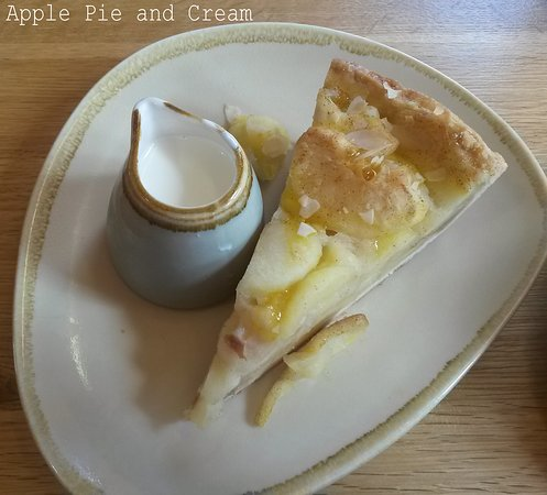 Apple Pie and cream