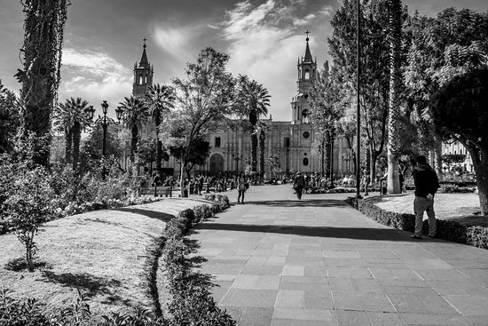 Plaza de Armas is ground zero for the colonial area of Arequipa