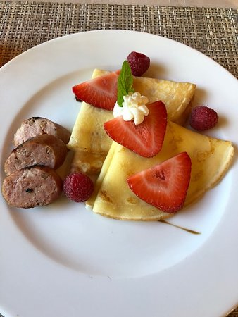 Breakfast crepes - YUM!