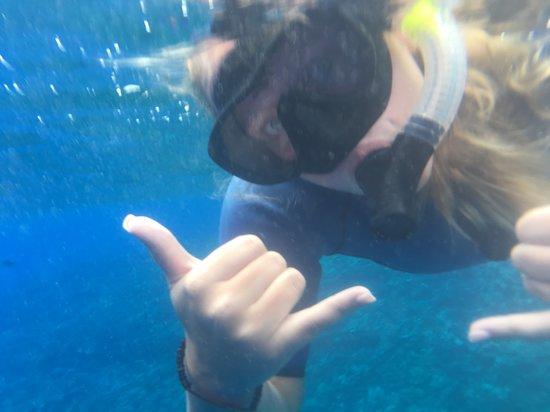 """""""hanging loose"""" Lovin snorkeling!!!"""