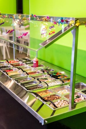 Fresh toppings galore, even walnuts, pecans, etc!