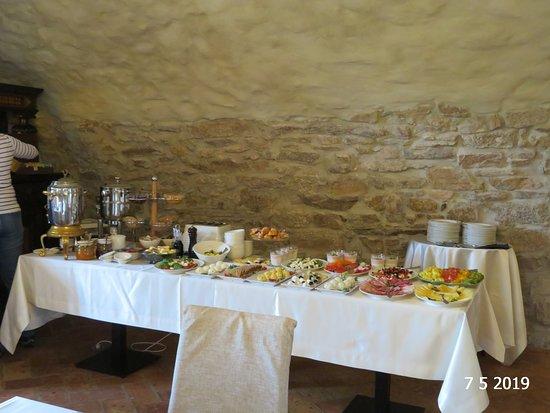 The breakfast buffet
