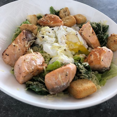 Ceaser Salad with Grilled Salmon