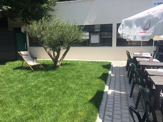 Terrasse d\'été mi ombre mi soleil et surtout le Grand Chef ...