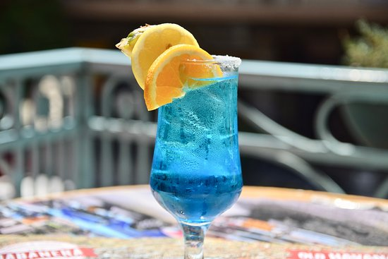 Corcovado with tequila, blue curaçao, drambuie and lemonade ...