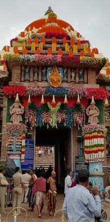 Puri District, India: #2019 Puri_Rath_Yatra  #Temple decorated with flower