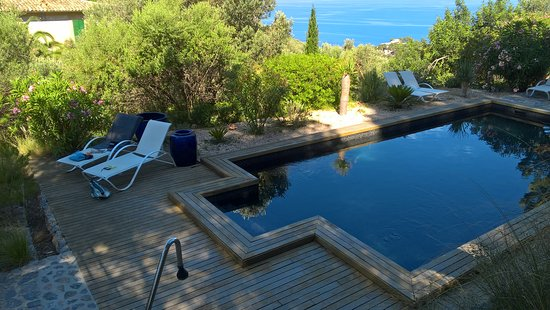 Finca Hotel Son Bleda: Very well kept pool area with sea view.
