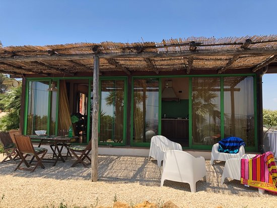 Patio of two bedroom unit at Colle dei Rustici.