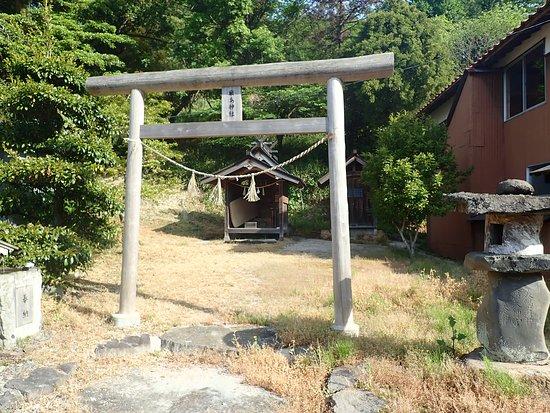 Yasugi, Japan: 参道付近にあった厳島神社。はたしてこの後ろが比婆山への道なんですかね?