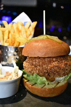 Beetroot & Falafel Burger