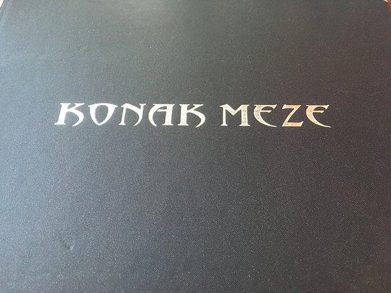 Konak Meze Turkish Restaurant: Menu