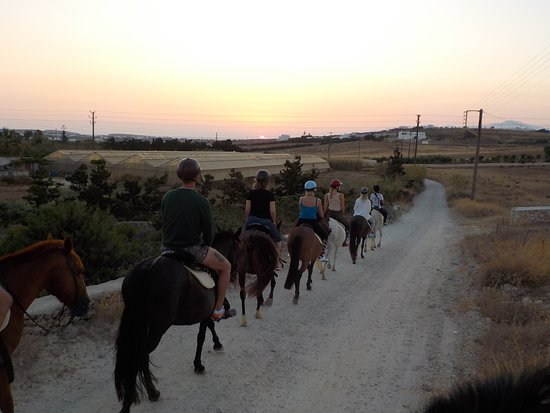 Kokou Horse Riding Center: When we say the sunrise tour , it is the SUNRISE tour. Enjoy the time of the day that it is not to hot , then have the longest day of your trip to Greece.