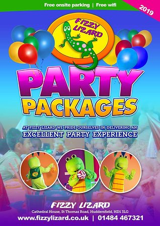 Fizzy Lizard: Party packages for birthdays