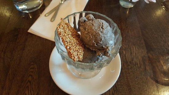 Black sesame seed ice-cream