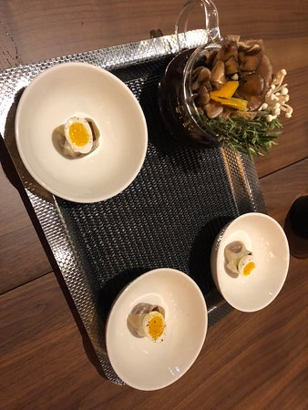 Dumpling, Quail Egg, Broth for First Course
