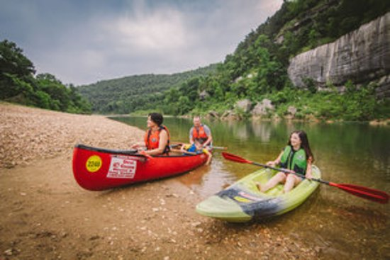 Floating the Buffalo National River.