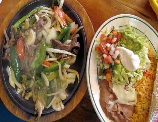Vega's Burritos: Vega's Mexican Grill Mexico MO....lunch steak fajita by Carl H. =)~