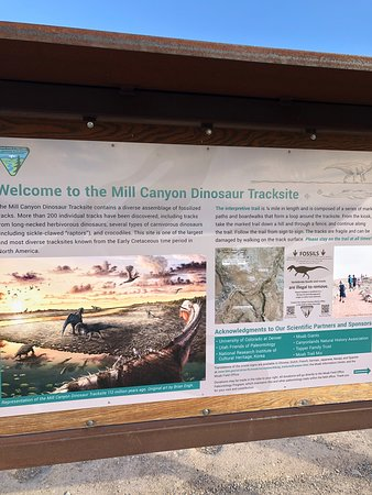 ‪‪Mill Canyon Dinosaur Trail‬: Information panel‬