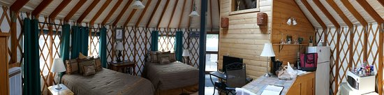 Amazing Yurt with lots of amenities right in front of the beach. Picture was taken June 2019