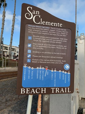 A map of the San Clemente Beach Trail