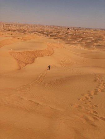 Sandboarding high dune