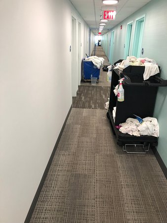 this is the hallway, I had to walk through so much clutter to get to the elevator. I hate to see how this place will look  a few years from now.