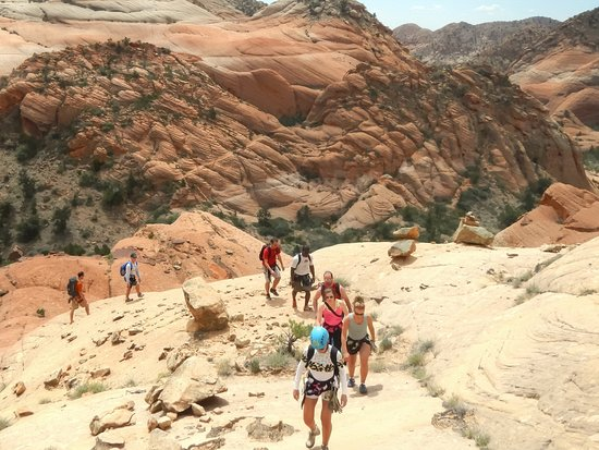 Hiking out of the Cottonwood wash wilderness