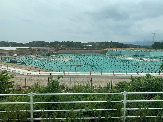 Okuma-machi, Ιαπωνία: 広大な汚染物置き場