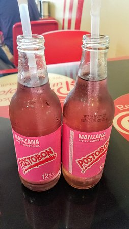 Tasty apple soda called MANZANA!