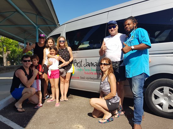 Newton Miller, with clients at the Montego Bay Cruise Port