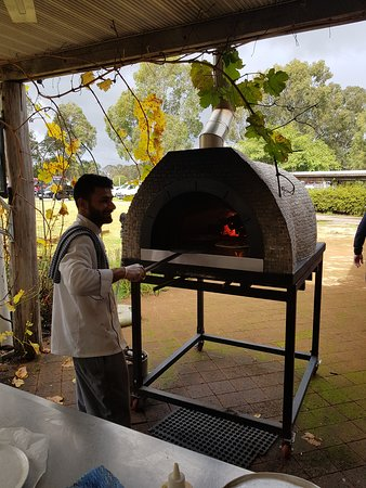 The Abbey: Pizza oven
