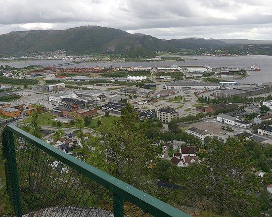 Bjørumsklompen: Blick auf Namsos