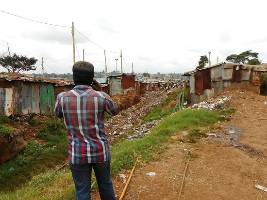 Kibera: Photo of the railway in Kibera, during the Walking Tour