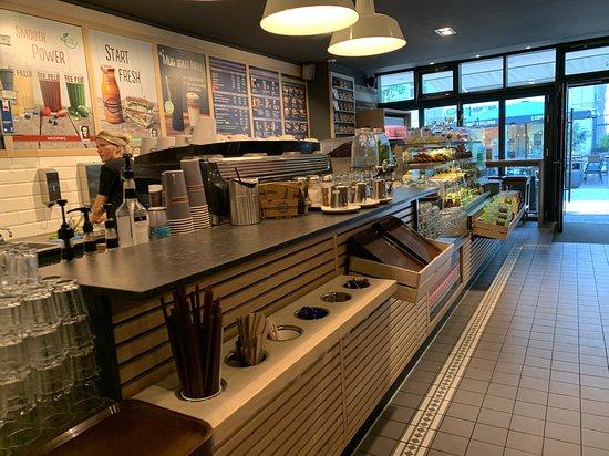 De koffie en voedsel bar