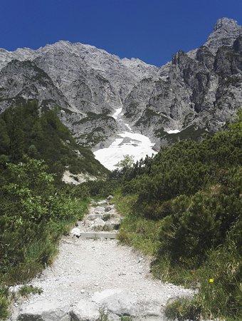 auf dem Weg zum tiefsten Gletscher Mitteleuropas
